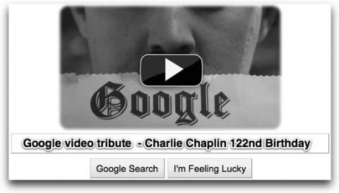 Google Doodle Charlie Chaplin Tribute Video