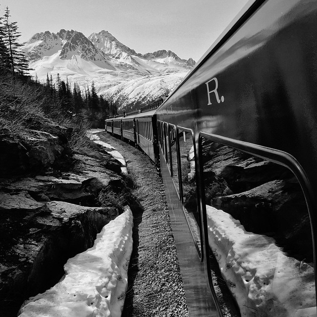 Whitepass summit on Yukon railway