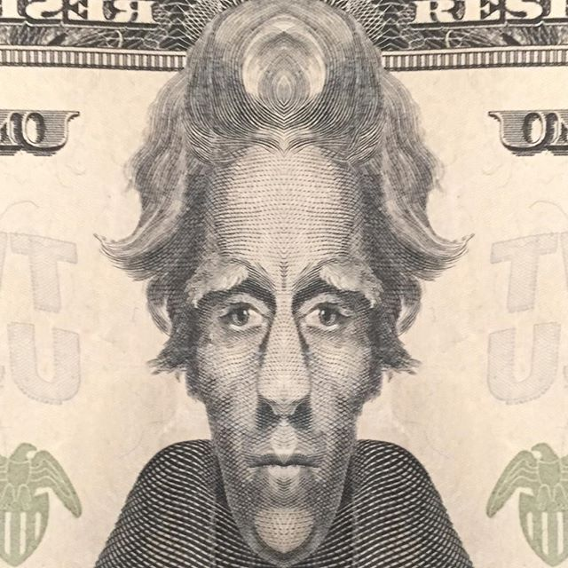 Edited Andrew Jackson 20 Bill Portrait