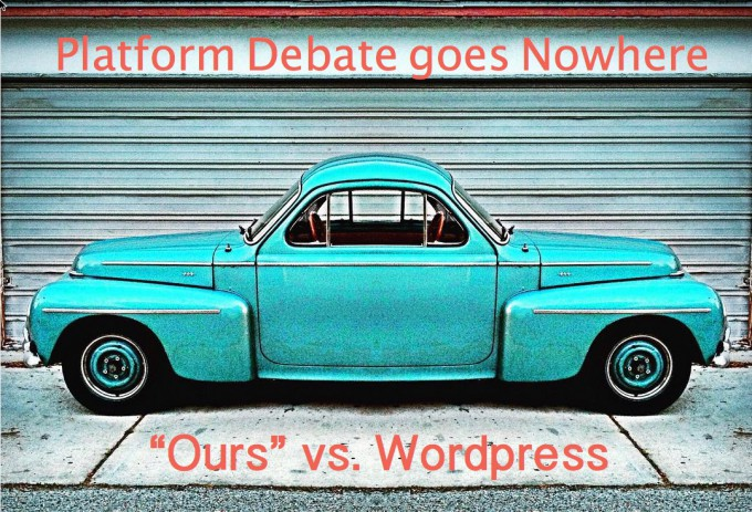Platform Debate Ours vs WordPress
