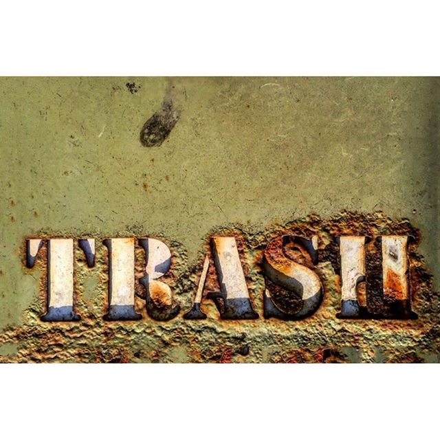 Corroded Trash Container