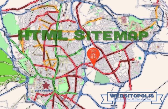HTML Sitemap Map Illustration
