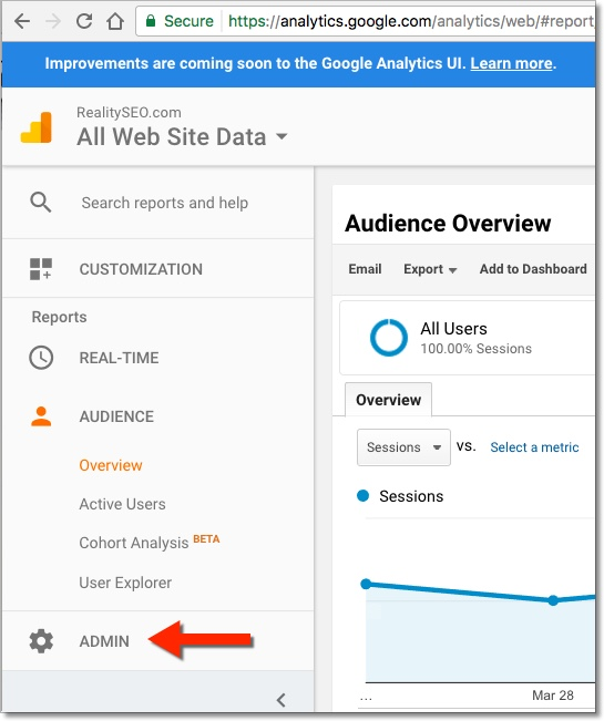 Google Analytics Admin