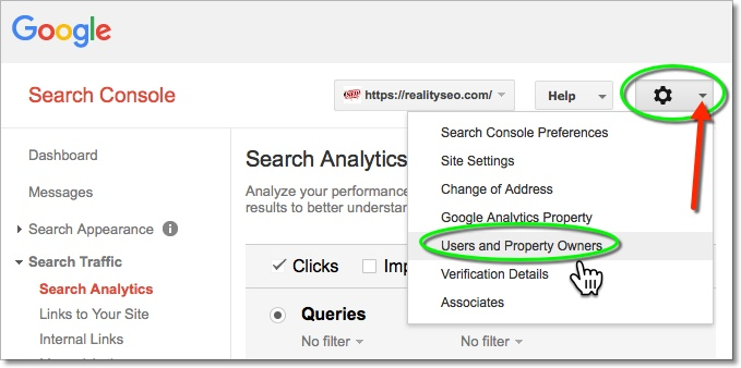 Google Search Console User Admin